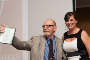 Ivan Doig, winner of the Lifetime Achievement Award 2014, thanks his fans.