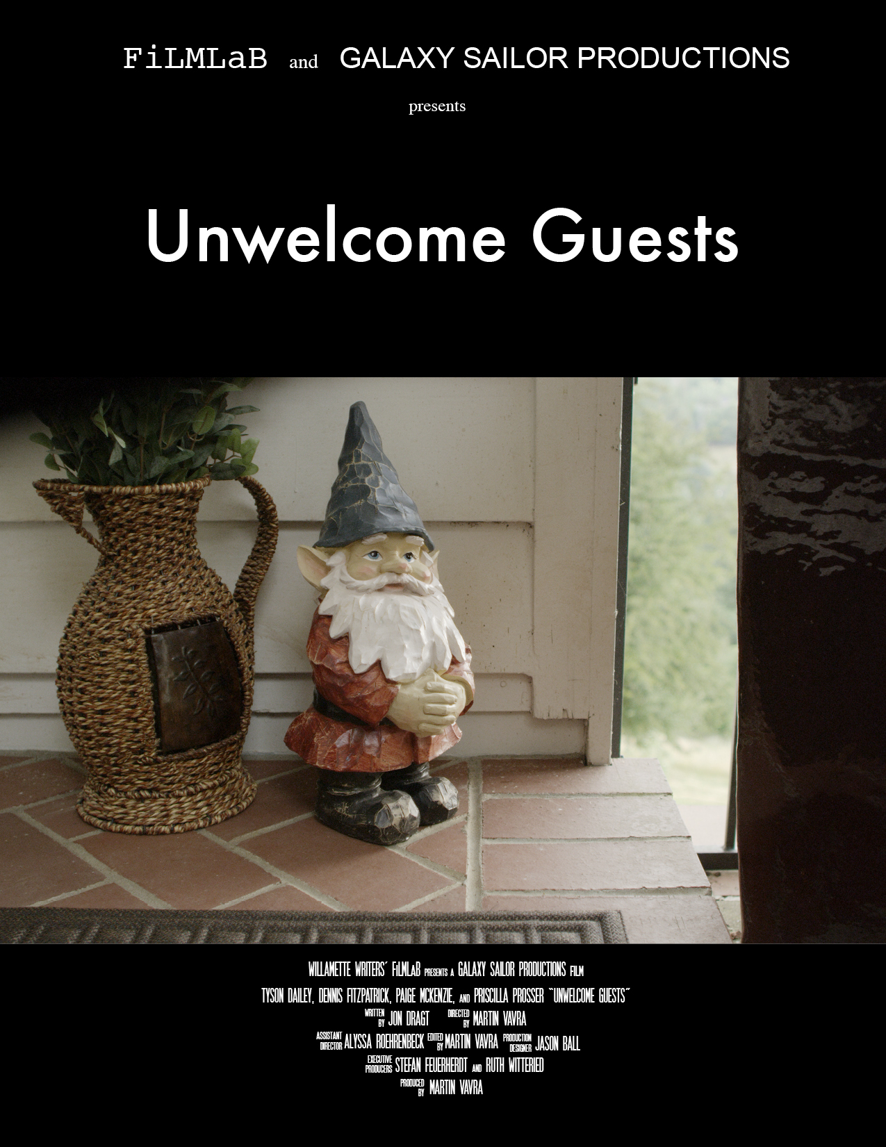 "Past winners of Willamette Writers' FiLMLaB - ""Unwelcome Guests"" by Jon Dragt poster"