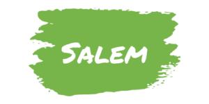Text - salem on green paint slash
