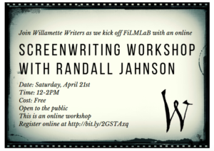 Randall Jahnson Screenwriting workshop