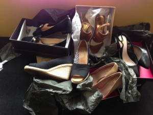 Binge shopping for shoes-and not a red pair in the bunch!