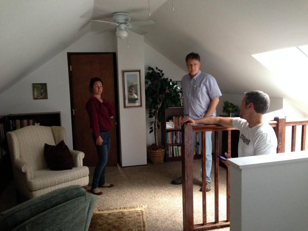 Writer Jon Dragt with Director Martin Vavra and Alyssa Roehrenbeck