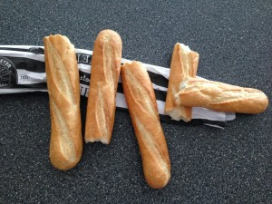 The Stunt Baguettes - They didn't fare so well on the set...