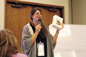 Best-selling author Jennifer Lauck leading a workshop.