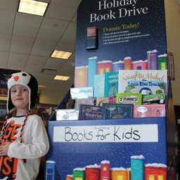 Stop by and find a book to share with a kid in need.