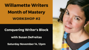 Workshop information plus Susan DeFreitas