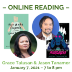 Tanamor and Talusan livestream reading graphic