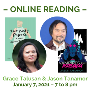 Tanamor and Talusan livestream reading graphic