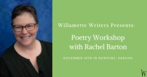Free poetry workshop with Rachel barton