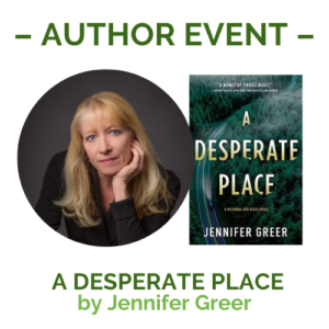 a desperate place cover & author photo