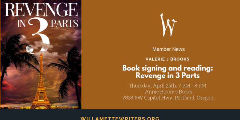 Member News- Annie Bloom's Reading and Signing of Revenge in 3 Parts