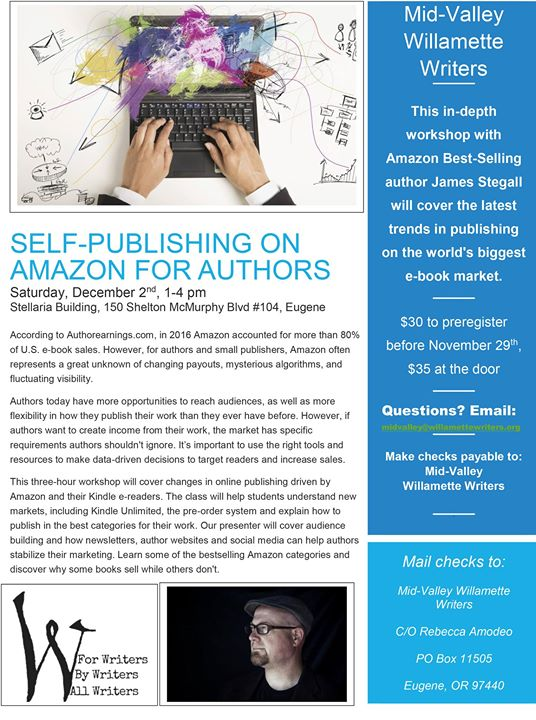 Eugene Workshop: Self-Publishing on Amazon for Authors with James
