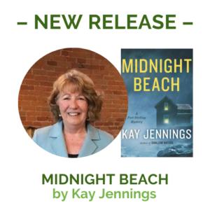 midnight beach cover & author photo